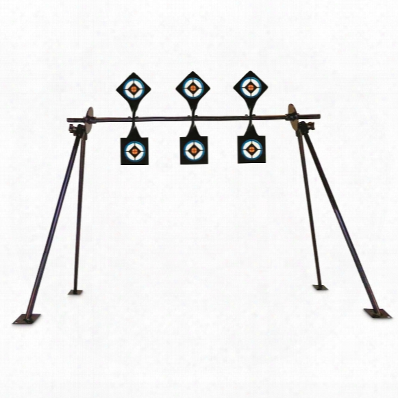 Do-all Outdoors .22 Caliber Shooting Gallery Spinners On Stand, 3 Targets