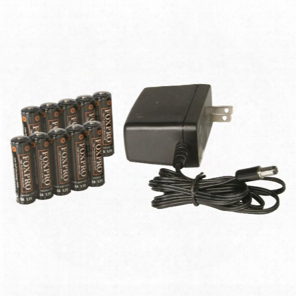 Foxpro 10 Aa Nimh Rechargeable Batteries And Wall Charger