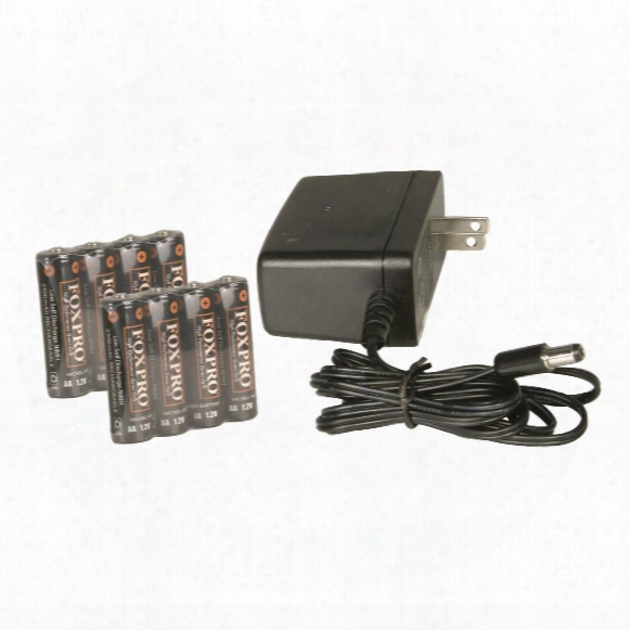 Foxpro 8 Aa Nimh Rechargeable Batteries And Wall Charger