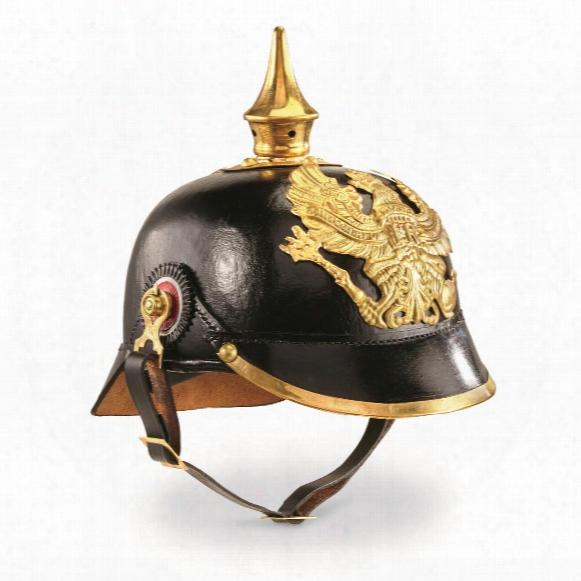 German Military Pickelhaube Leather Spike Helmet, Reproduction