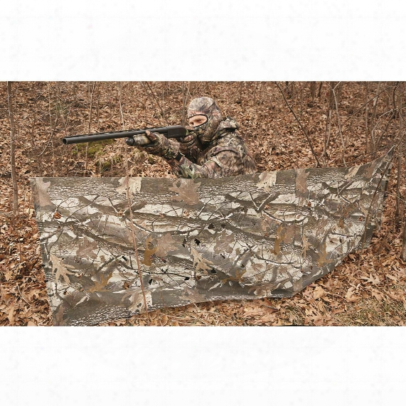 Guide Gear 8' Portable Blind In Realtree Hardwood Camo With Die Cut 3d Fabric