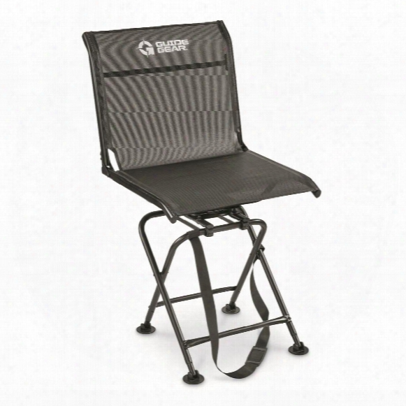 Guide Gear Big Boy Oversized 360 Degree Swivel Hunting Blind Chair, 500-lb. Capacity