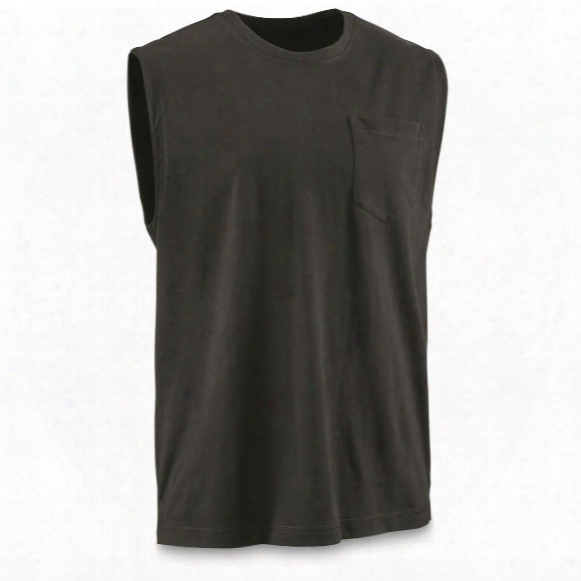 Guide Gear Men's Stain Kicker Sleeveless Pocket T Shirt With Teflon