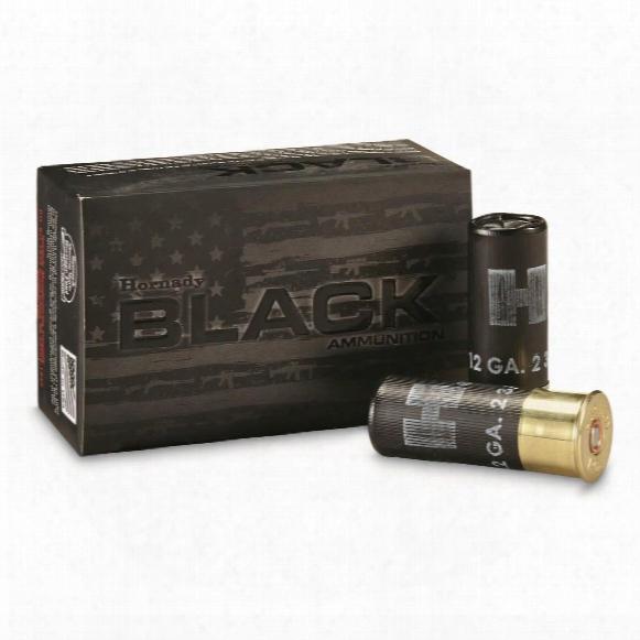"""Hornady Black, 12 Gauge, 2 3/4"""" Shell, 00 Buckshot, 10 Rounds"""