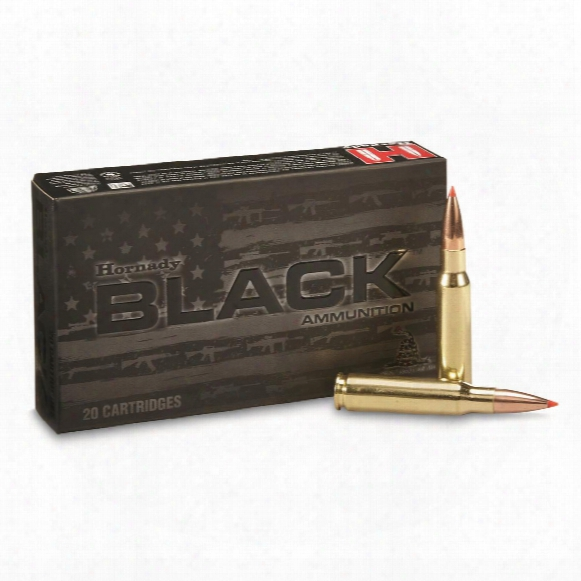 Hornady Black, .308 Winchester, A-max, 168 Grain, 20 Rounds