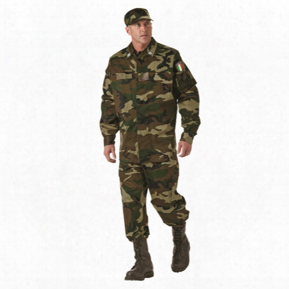 Italian Military Surplus Bdu Jacket And Pants With Hat, New