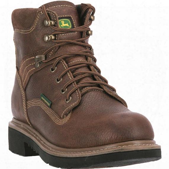 """John Deere Men's Waterproof 6"""" Lace-up Steel Toe Work Boots"""