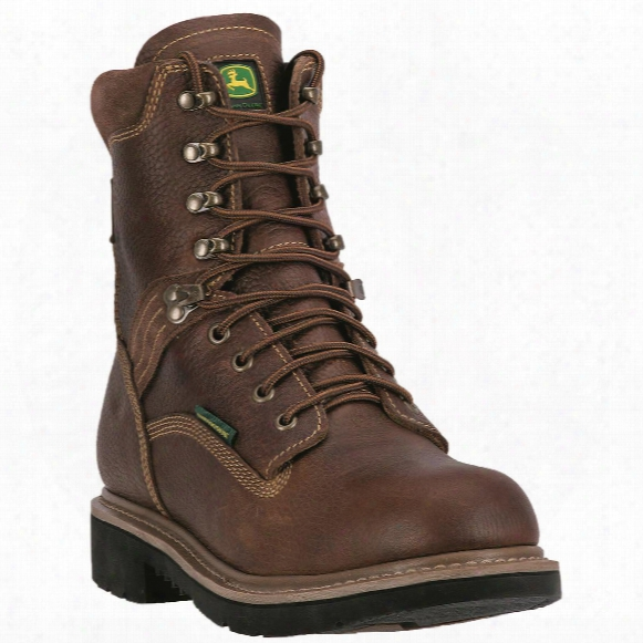 "John Deere Waterproof 8"" Lace-up Steel Toe Work Boots"