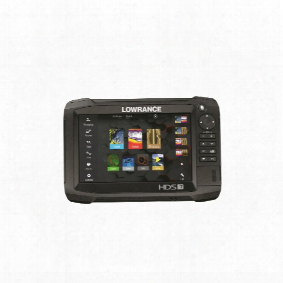 Lowrance Hds-7 Carbon Sonar Fish Finder, Totalscan Transducer + Insight Pro By C-map