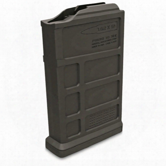 Magpul Pmag 10 7.62ac Aics Short Action Magazine, 7.62x51mm Nato, 10 Rounds