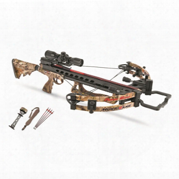 Parker Hurricane Crossbow With Outfitter Package, 3x Multi Reticle Scope