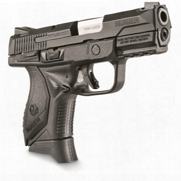 "Ruger American Pistol Compact, Semi-automatic, 9mm, 3.55"" Barrel, Manual Safety, 12+1/17+1 Rounds"