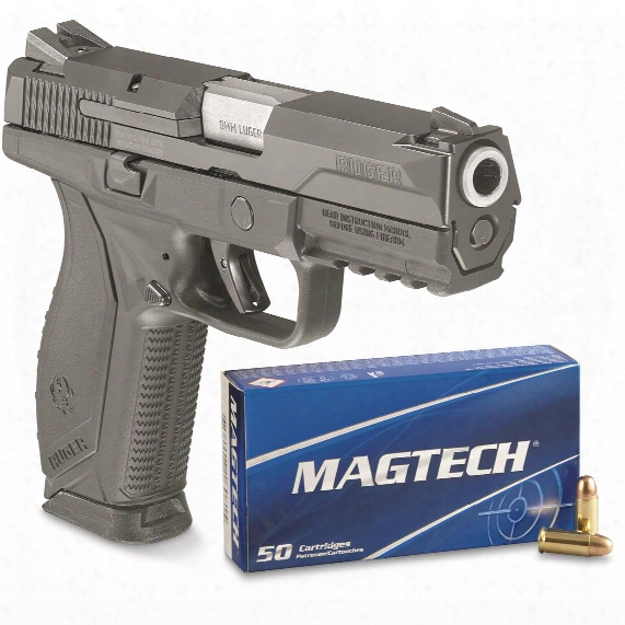 "Ruger American Pistol, Semi-automatic, 9mm, 4.2"" Barrel, 17+1 Rounds, Free 250 Rds. Magtech Ammo"