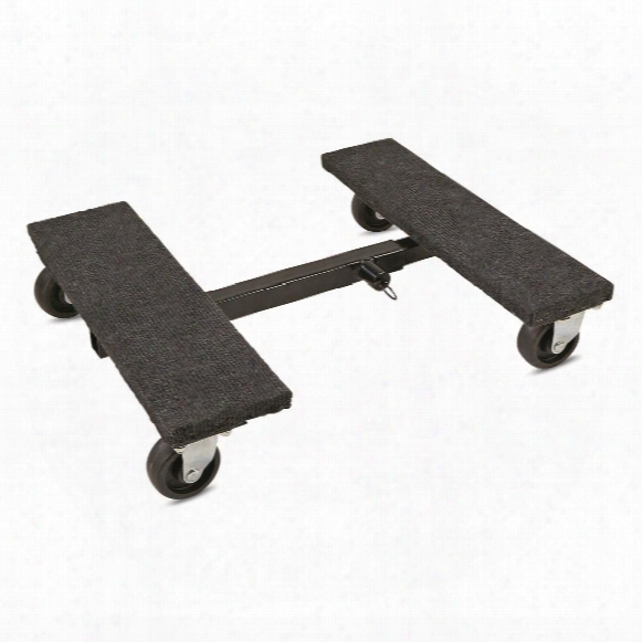 "Shop Tuff Adjustable Mover's Dolly, 18"" X 18""-30"" X 4.5"""