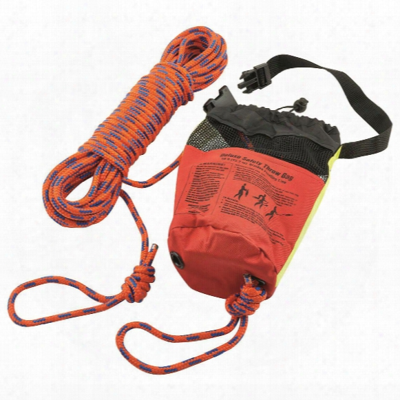 "Shoreline Marine Safety Throw Rope Bag, 5/16""x50'"