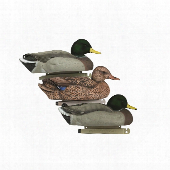 Tanglefree Flight Series Flocked Mallard Decoys, 6 Pack