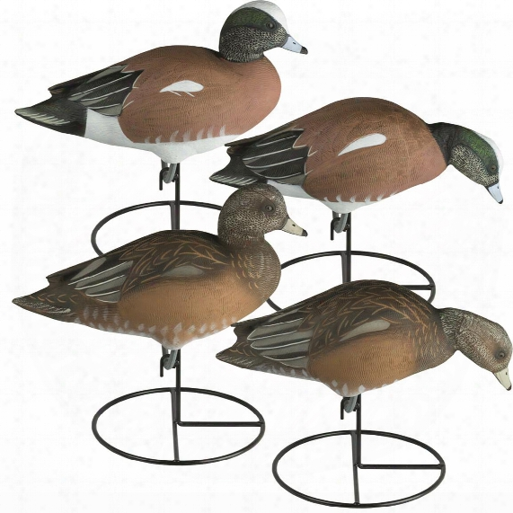 Tanglefree Pro Series Full Body American Wigeon Decoys, 4 Pack