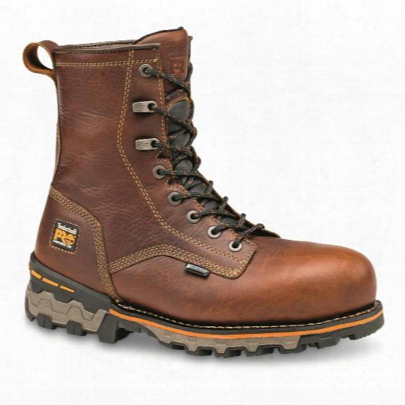 """Timberland Pro Men's Boondock Waterproof 8"""" Composite Toe Work Boots"""