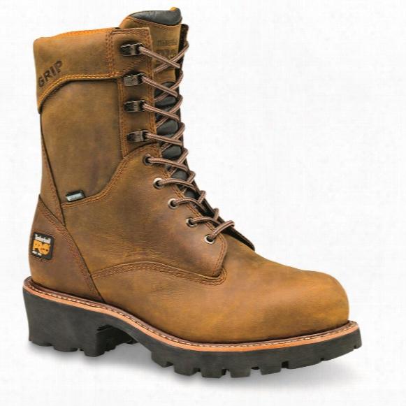 "Timberland Pro Men's Rip Saw Waterproof 9"" Steel Toe Logger Boots"