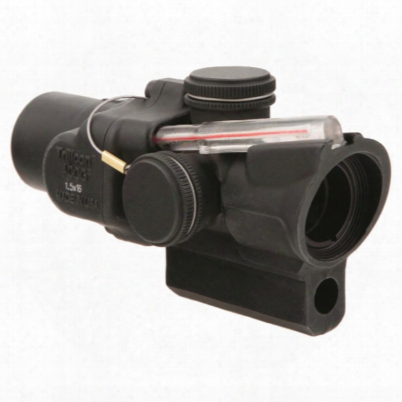 Trijicon 1.5x16mm Compact Acog Scope, Dual Illuminated Red Ring And 2 Moa Center Dot Reticle
