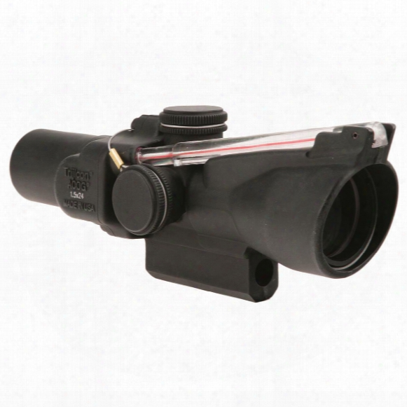 Trijicon 1.5x24mm Compact Acog Scope, Dual Illuminated Red 8 Moa Triangle Reticle
