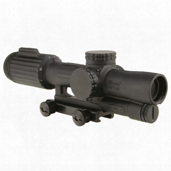 Trijicon Vcog 1-6x24mm Rifle Scope, Ffp Red Segmented Circle/crosshair .308 Caliber