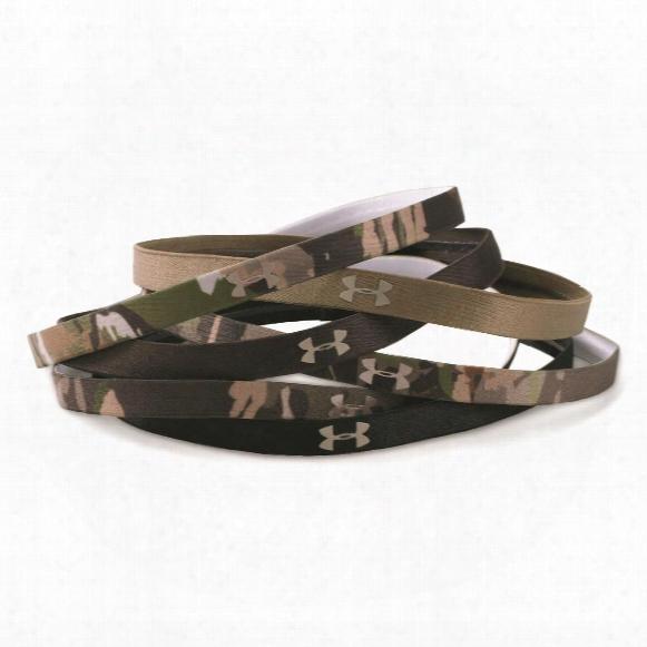 Under Armour Women's Camo Mini Heaxbands, 6 Pack