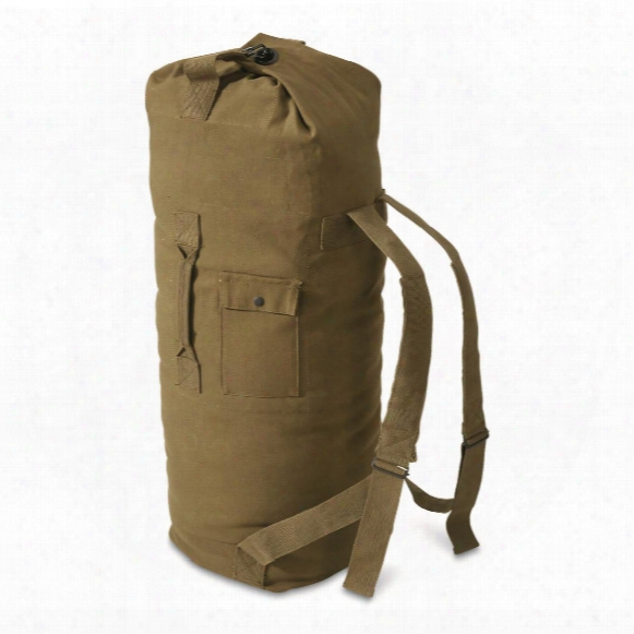 "U.s. Military Style Canvas 40"" Duffel Bag, New"