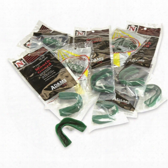 U.s. Military Surplus Adams Adult Mouth Guard, 10 Pack, New