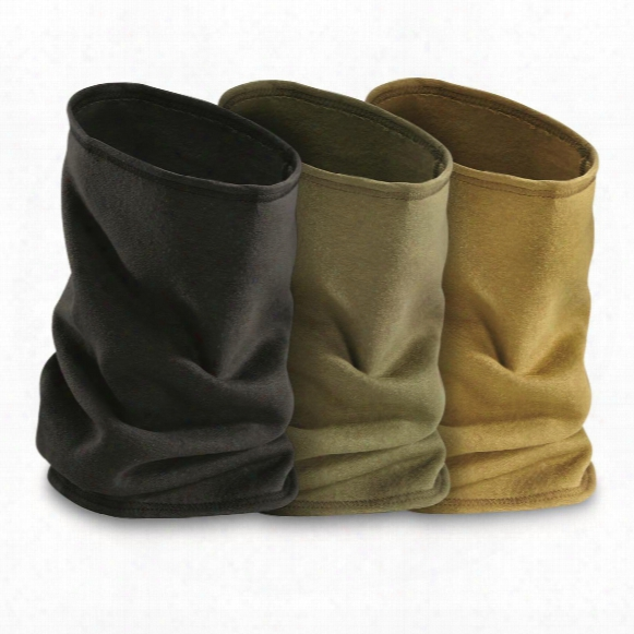 U.s. Military Surplus Fleece Neck Gaiter, 3 Pack, New