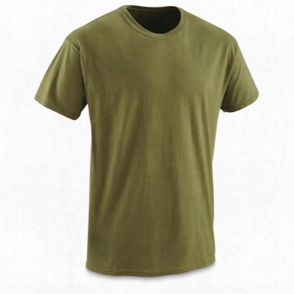 U.s. Military Surplus Moisture-wicking T-shirts, 12 Pack, New