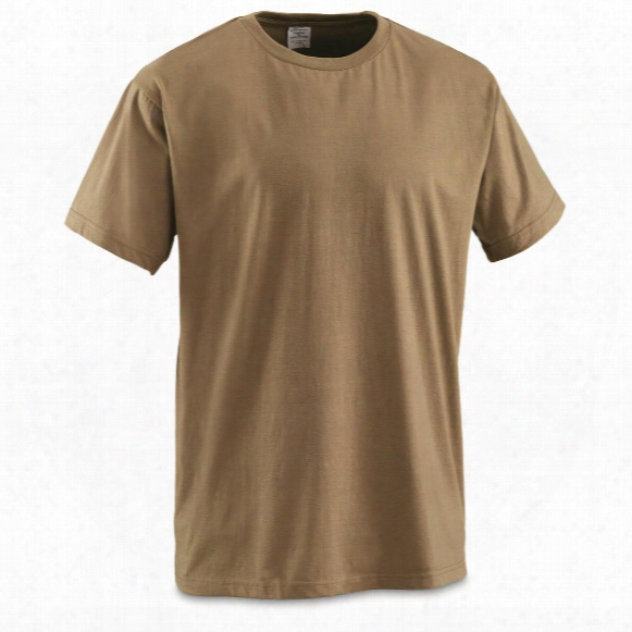 U.s. Military Surplus Ocp Coyote T-shirt, 6-pk., New