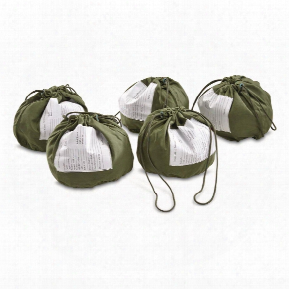 U.s. Military Surplus Personal Effects Bag, 5 Pack, New