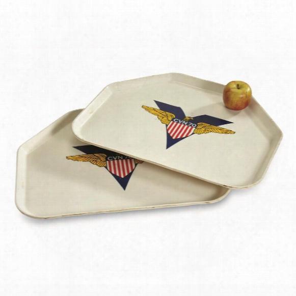 U.s. Navy Surplus Uss Carl Vinson Cafeteria Trays, 2 Pack, Used