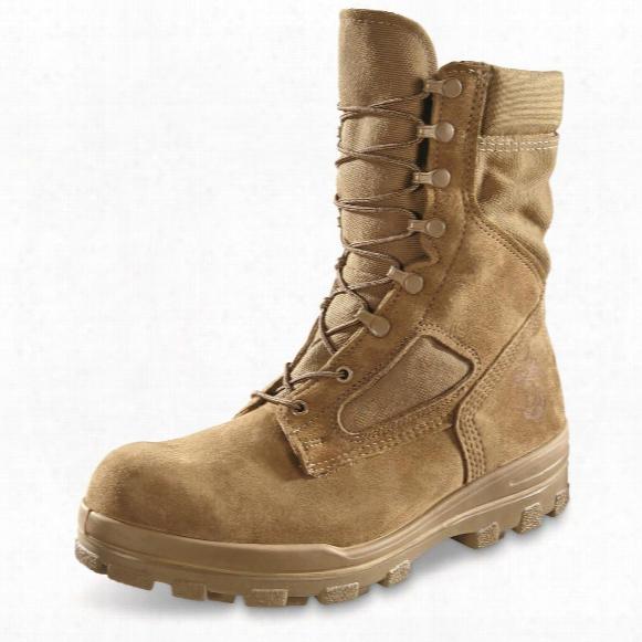 U.s.m.c. Military Surplus Temperate Weather Waterproof Combat Boots, New