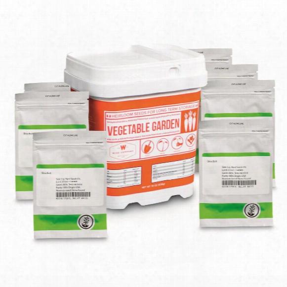 Wise Foods Everlasting Heirloom Survival Seed Bucket, Vegetable