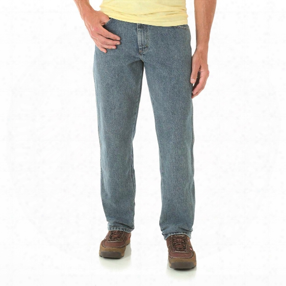 Wrangler Rugged Wear Men's Relaxed Fit Jeans, High Rise