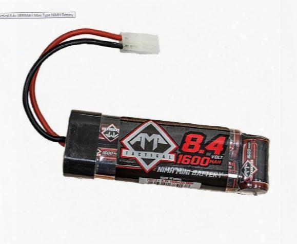 Amp Tactical 8.4v 1600mah Nimh Mini Type Battery, Mini Plug
