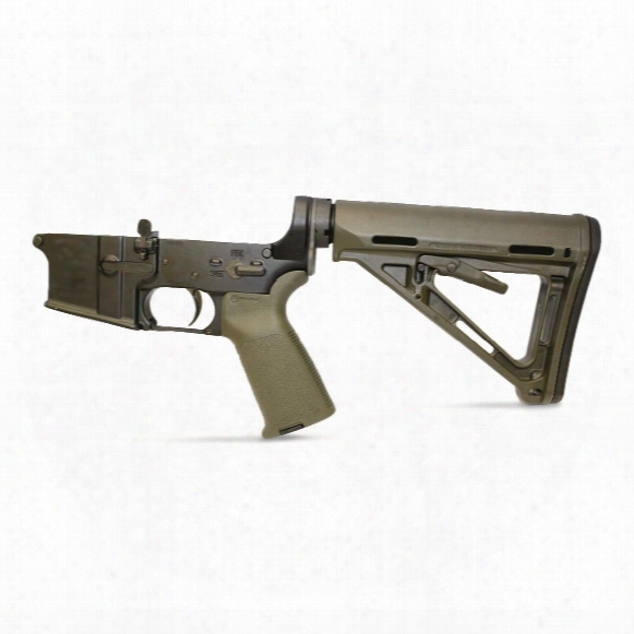 Anderson Complete Assembled Lower, Multi-cal, Magpul Stock And Grip, Olive Drab
