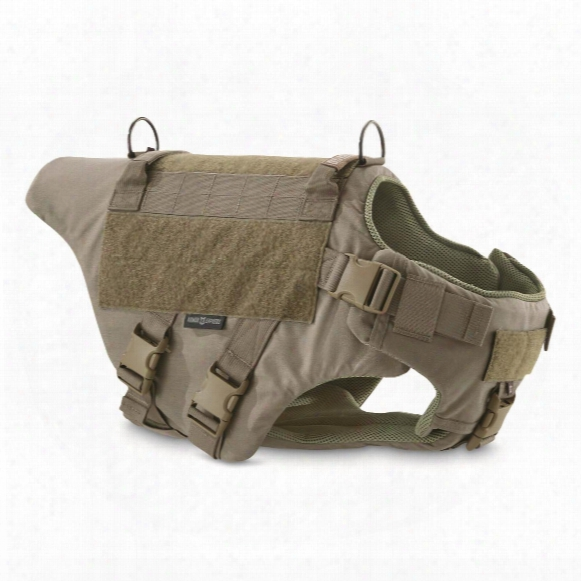 Armor Express Tex 10 K-9 Dog Vest With Taurus Spike 2 Armor
