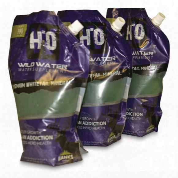 Banks Outdoors Wild Water Mineral Supplement, 3 Pack