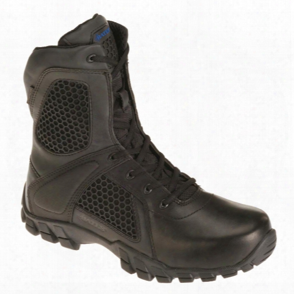 "Bates 8"" Men's Shock Side-zip Waterproof Tactical Boots"