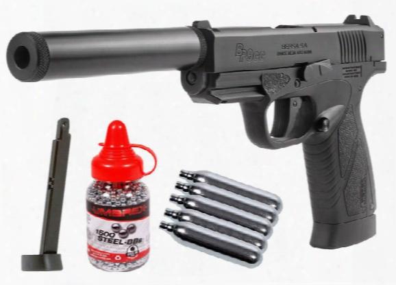 Bersa Bp9cc Co2 Blowbac K Bb Pistol Kit, Black