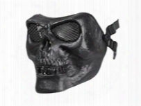 Bravo Tactical Skull Face Mask, Black