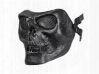 Bravo Tactical Skull Face Mask, Black