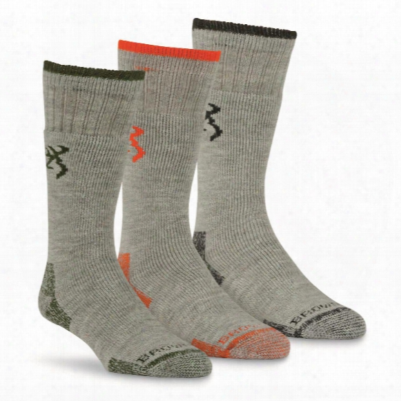 Browning Men's Sycamore Wool Socks, 3 Pairs