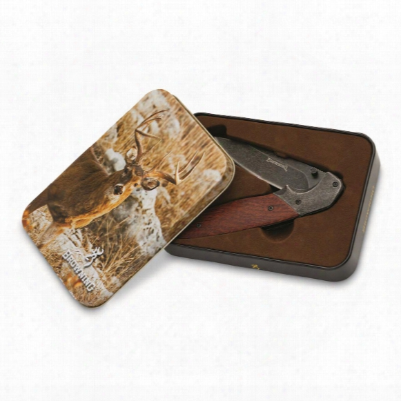 "Browning Whitetail Knife, 3.875"" Blade, With Gift Tin"