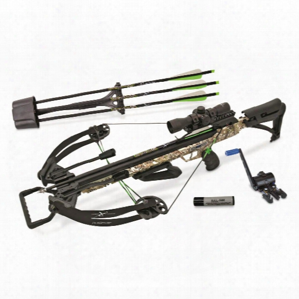 Carbon Express Piledriver 390 Crossbow Package With Cranking Device