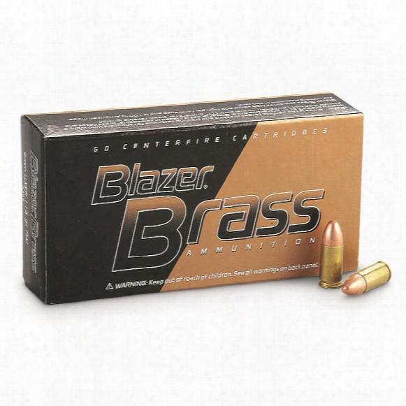 Cci Blazer Brass Centerfire, 9mm Luger, Fmj-rn, 115 Grain, 1,000 Rounds