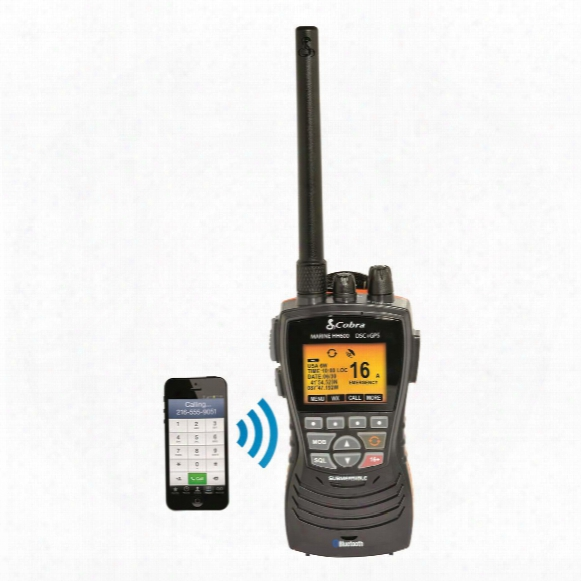 Cobra Floating Handheld Vhf Radio With Bluetooth And Gps